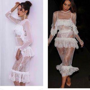 White lace indie xo dress maxi midi buster